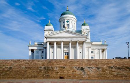 Helsinki. Finland. Senaatsplein. Kathedraal van Helsinki ook bekend als een Sint-Nicolaaskerk