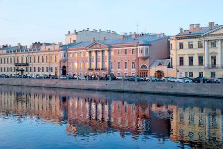 Buildings near The Fontanka River. St Petersburg. Russia