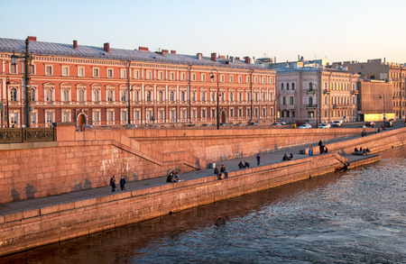 Kutuzov Embankment. St Petersburg. Russia