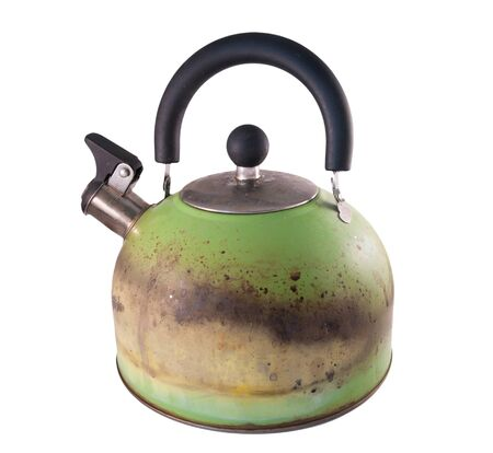 Kettle damaged from a gas stove