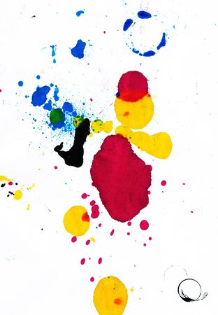 Printer inks abstraction Stockfoto