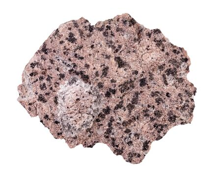 Rapakivi granite on a white background