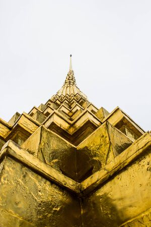 Golden Pagoda in angle of elevation photo