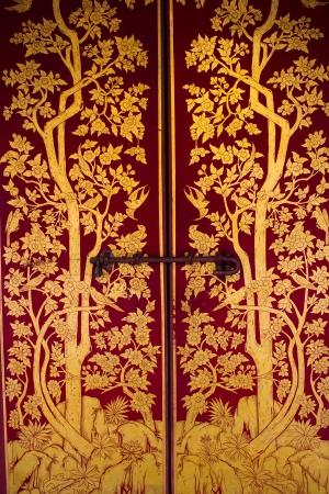 Beautiful Thai door photo