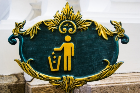 violator: A garbage dump