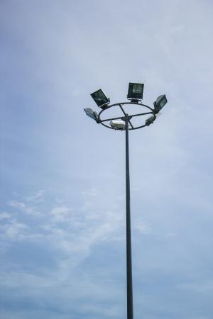 Street light at Koh Lan in blue Sky Background photo