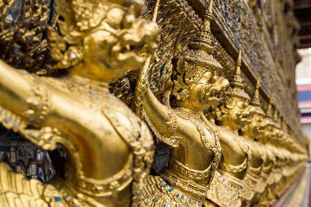 Golden Garuda Statue of Wat Phra Kaew, Bangkok, thailand photo