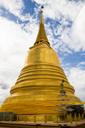 Wat Saket temple , the golden mountain, Bangkok, Thailand photo