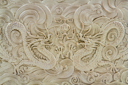 Beautiful Chinese Golden Dragon Texture photo