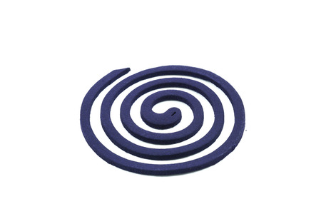 deterent: Mosquito coil on white background
