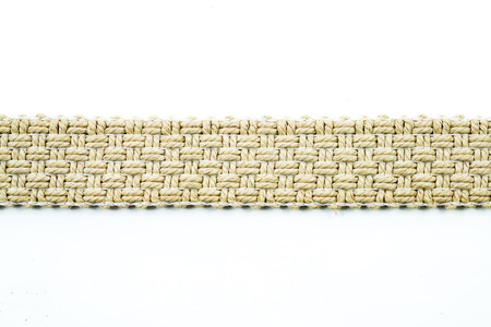bast basket: Woven belt texture on white background
