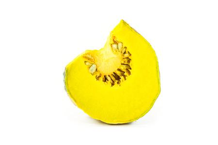 Pumpkin fruit on white  photo