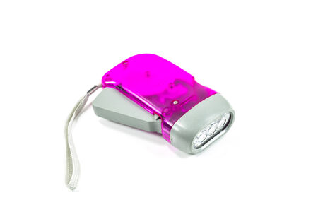 Electric Pocket Flashlight On White  photo