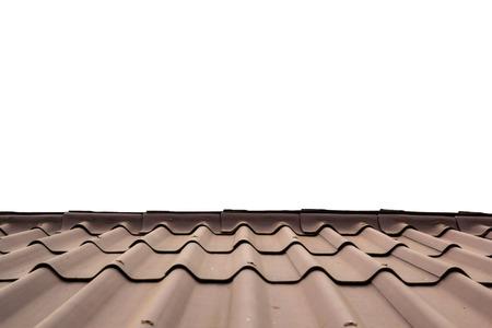 rooftile: La tegola su sfondo bianco Archivio Fotografico