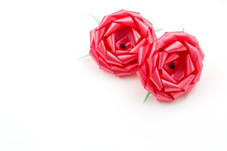 ribbin: Red Gift Bow On White