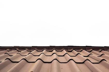 rooftile: The roof-tile on white background Stock Photo