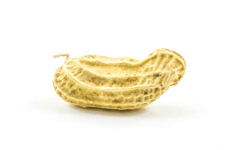 goober peas: Boiled peanut on white