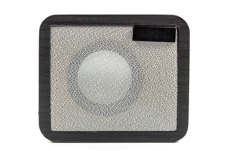 Mini Loudspeaker isolated on a white  Stock Photo