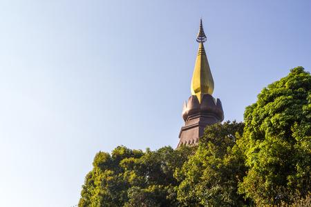 phon: King and Queen pagoda (Noppha Methanidon and Noppha Phon Phum Siri stupa) of Doi Inthanon, Chiangmai, Thailand