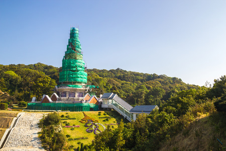 phon: King and Queen pagoda (Noppha Methanidon and Noppha Phon Phum Siri stupa) of Doi Inthanon, Chiangmai, Thailand