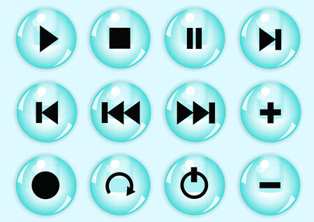 button set: Hochglanz-Button-Set