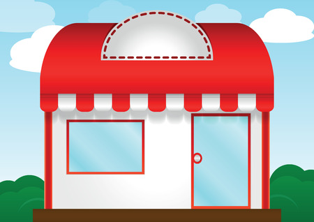 frontdoor: Red roof store, VECTOR, EPS10