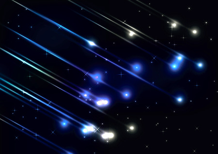 Meteor shower in space Vector