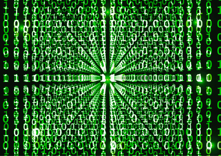 Binary code in abstract background, VECTOR, EPS10 Vector