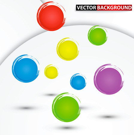 Abstract colorful circle background, VECTOR, EPS10 Vector