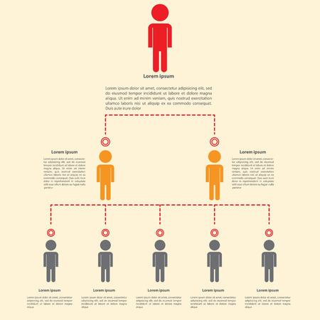 Organogram infographics ontwerp, vector, EPS10