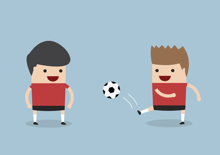 Two men playing soccer or football, VECTOR, EPS10 Vector