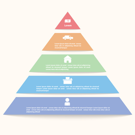 5: Pyramid infographic template, VECTOR, EPS10