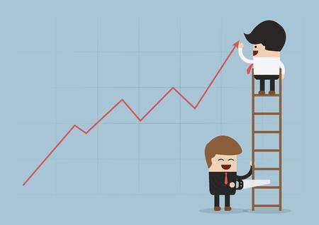 business rival: Eliminar el rival en los negocios, vector, EPS10