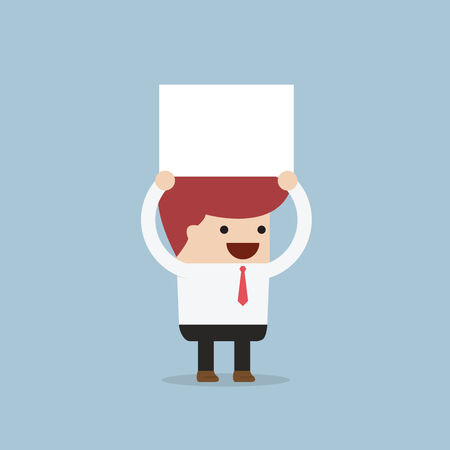 executive board: Businessman holding an empty board over his head, VECTOR, EPS10