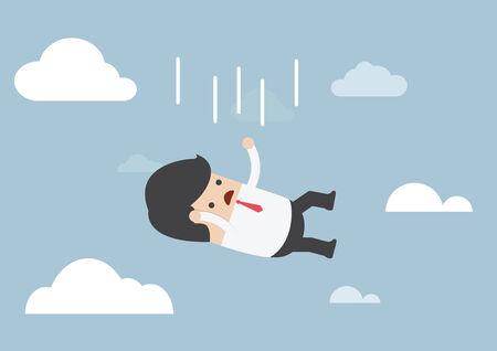 vector eps10: Businessman falling from the sky, VECTOR, EPS10