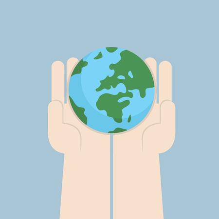 global business: Hand holding the world, VECTOR, EPS10 Illustration