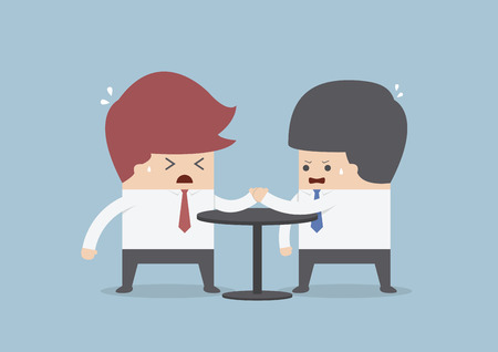 Businessmen in arm wrestling, Business competition concept, VECTOR, EPS10