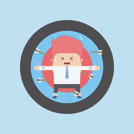 targets: Businessman on archery targets, Risk concept, VECTOR, EPS10