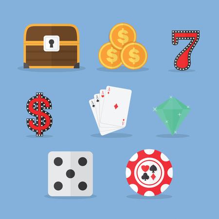 tresure: Set of Gambling & Slot Machine Icons