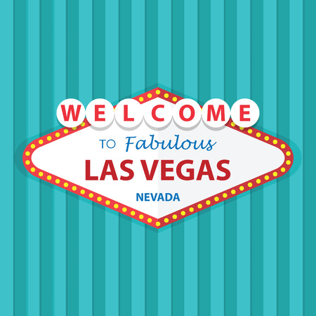 Welcome to Fabulous Las Vegas Nevada Sign On Curtains Background