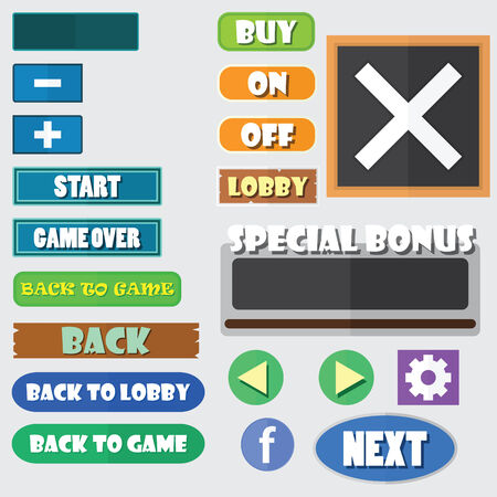 minus: Simple game buttons