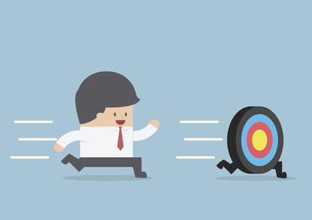 Businessman try to catch the target, VECTOR, EPS10 Stock Illustratie