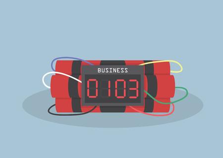 Tikkende tijdbom, Business concept, vector, EPS10
