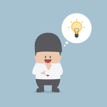 Businessman thinking and have a great idea, VECTOR, EPS10