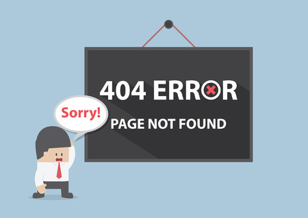 page design: 404 error, Page not found, VECTOR, EPS10 Illustration