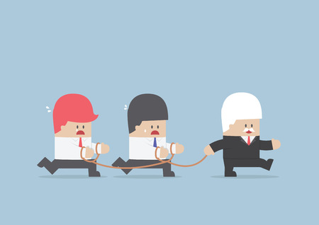 Group of business slave following businessman Leader, VECTOR, EPS10 Vector