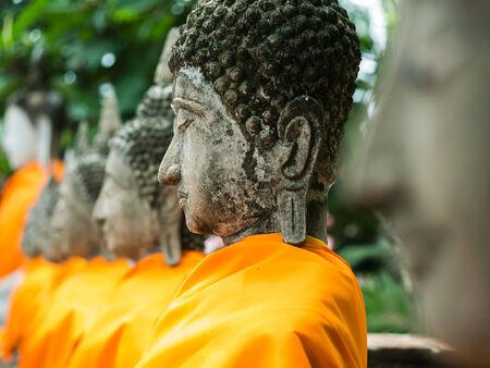 Buddha statue in Wat Yai Chai Mongkol, Ayuttaya, Thailand photo