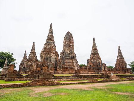 ayuttaya: Wat Chai Watthanaram ancient building and historical place, Ayuttaya,Thailand