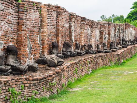 Wat Mahatat ancient building and historical place, Ayuttaya,Thailand photo