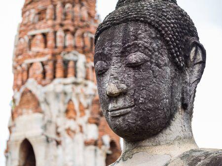 ayuttaya: Ancient Buddha Statue at Mahatat Temple, Ayuttaya, Thailand